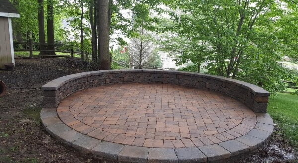 A cleaned patio