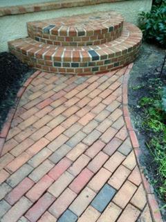 A beautiful brick walkway