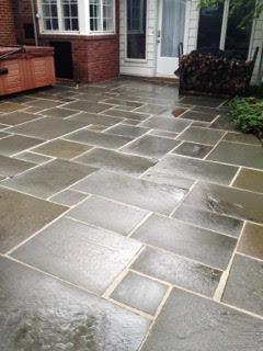 Amazingly shiny stone patio