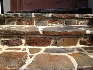 Shiny and vibrant stone steps