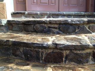 Dirty stone steps