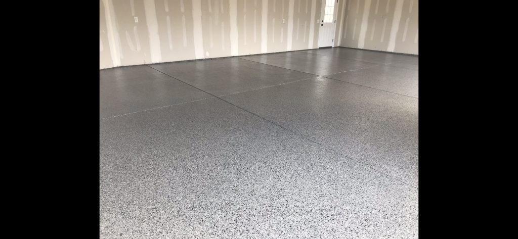 A blank room with a concrete floor.