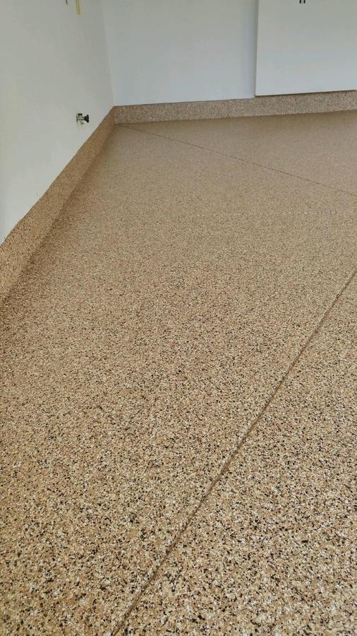 A concrete floor.