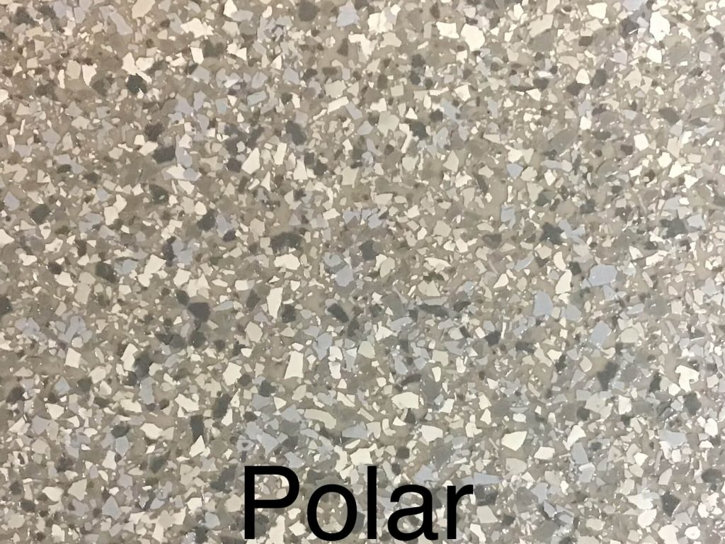 A floor color called polar. It's a light brown, mottled gray floor. Handsome and refined.