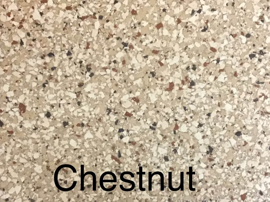 A floor color called chesnut with a lovely light brown speckled appearance