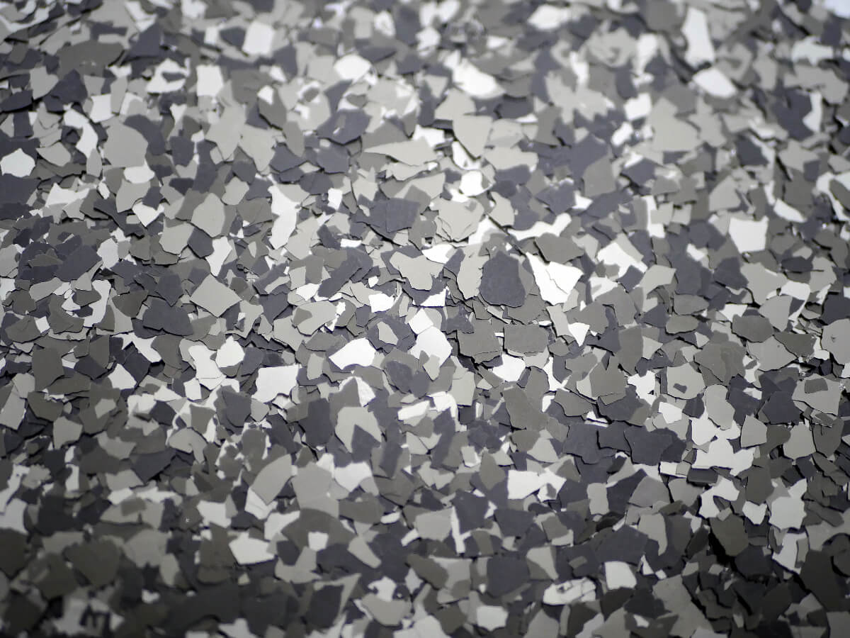 a floor with speckles of silver gray