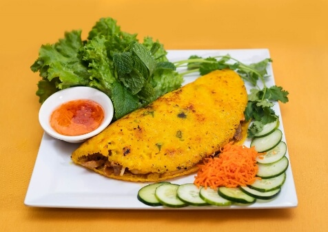 A plate of delicious Vietnamese food