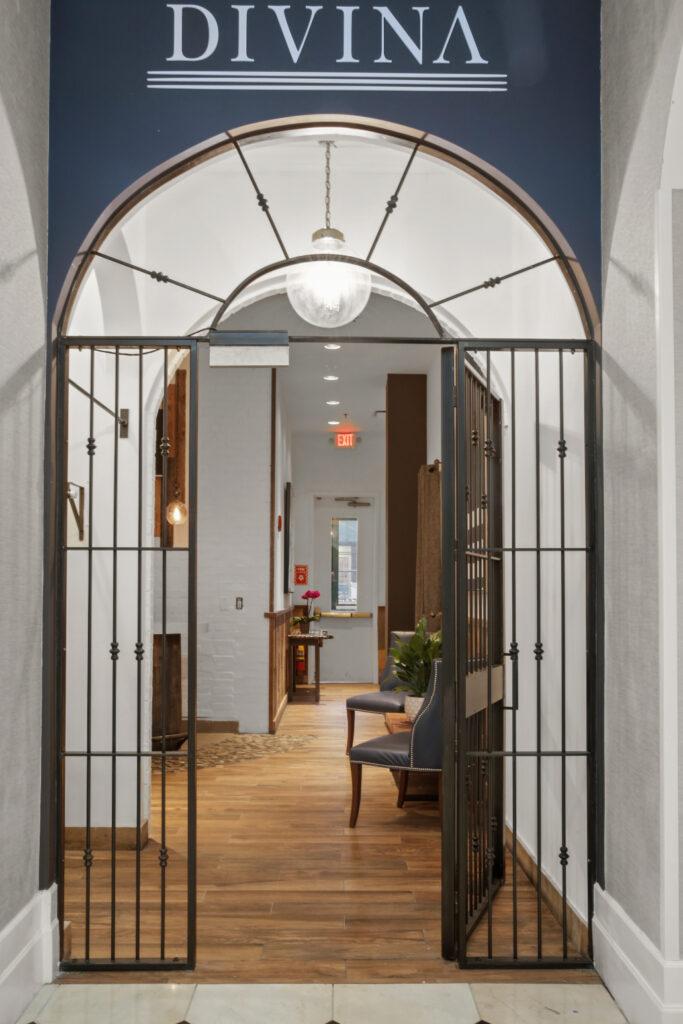 the doorway at Divina Restaurant