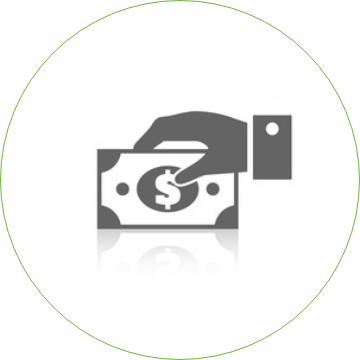 Clipart of a hand holding a dollar bill
