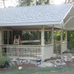 A home with a deck that is under construction.