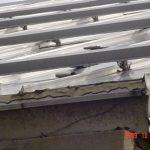 A close up of metal rails.