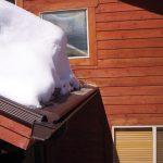 Gutter protection covers protecting gutters against snow.
