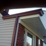 Profile gutters after installation.