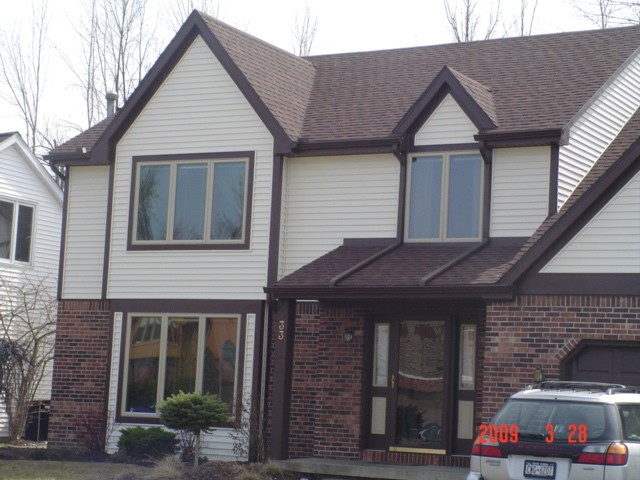 A home with siding installed.