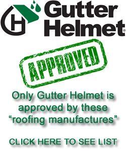 Gutter Helmet Approved