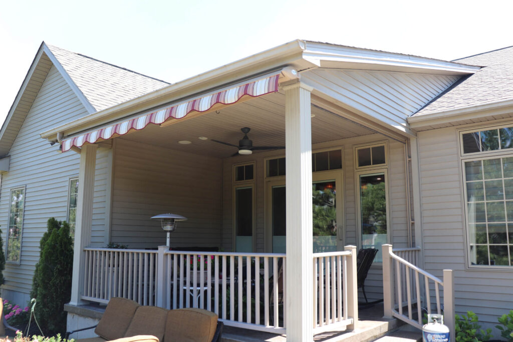 Awning on front porch