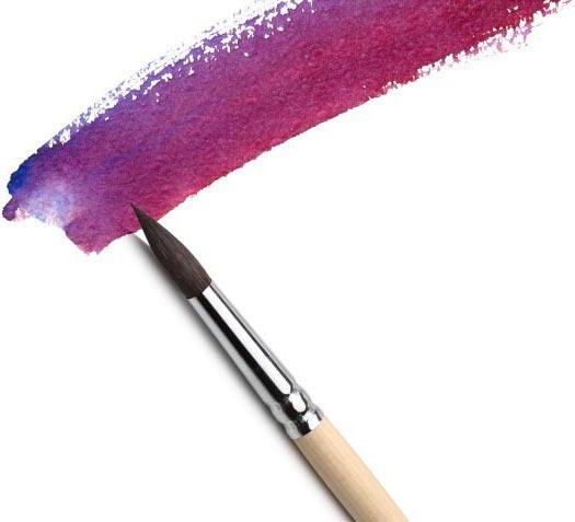 a pen and a purple streak