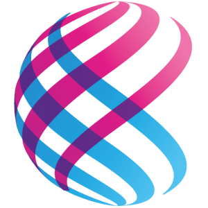 a pink and blue sphere