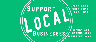 an infographic displaying support of local businesses