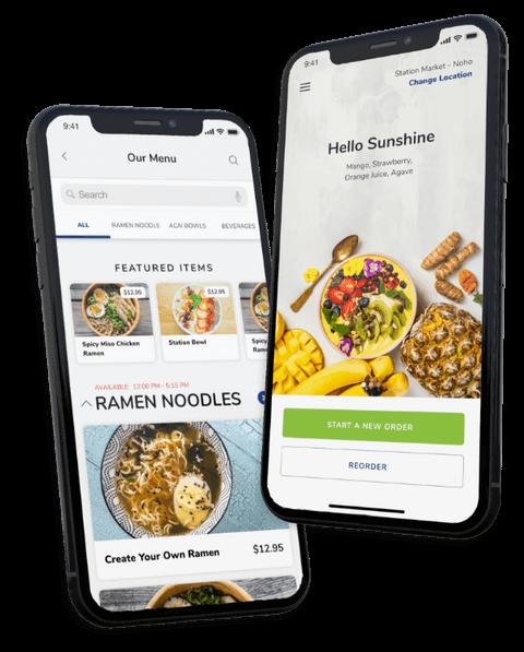 Smartphones with online ordering apps