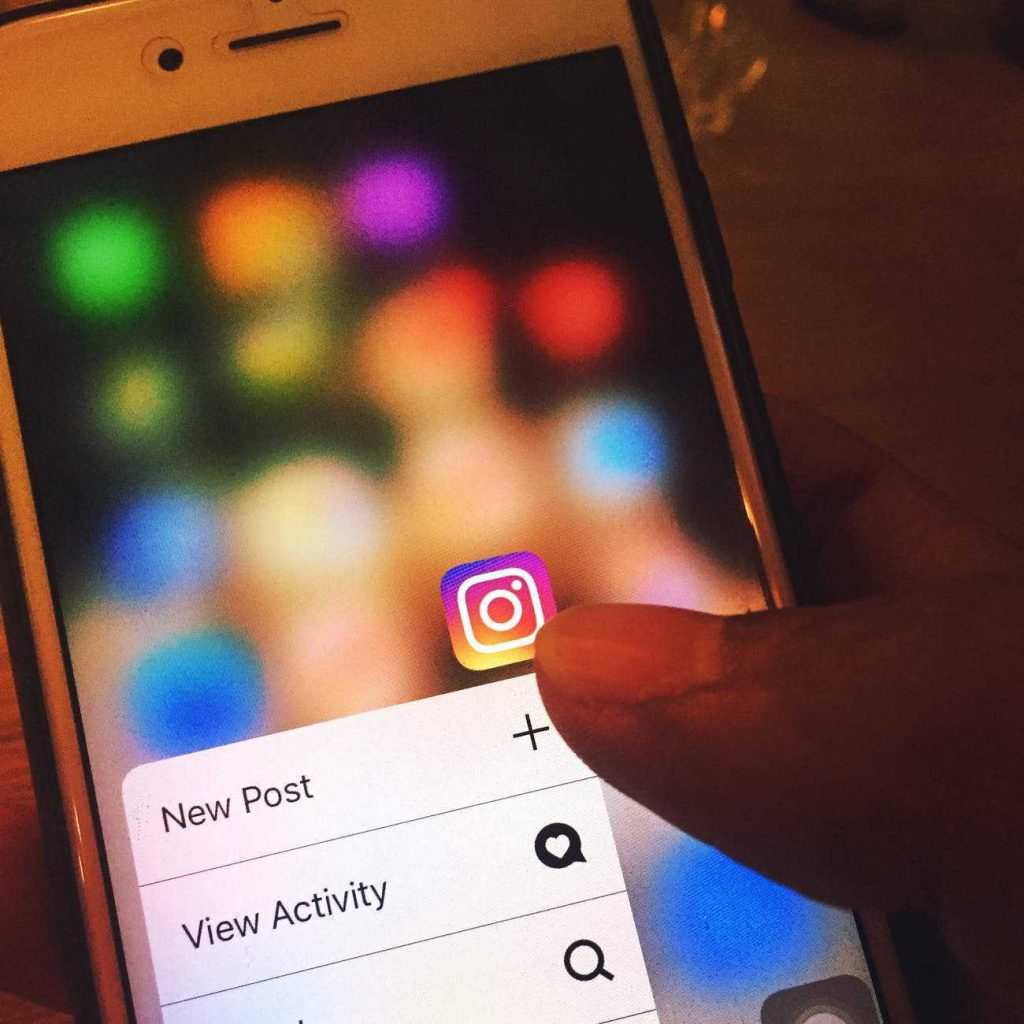 Instagram app being used on an iphone