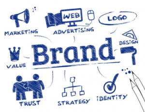 A sketch pad illustration of logo and branding ideas