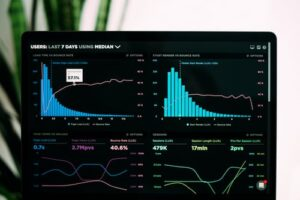 digital marketing metrics displayed on a computer
