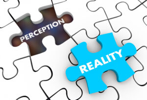 customer perception and reality as puzzle pieces fitting together