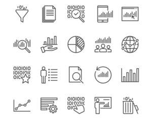 a set of analytics icons