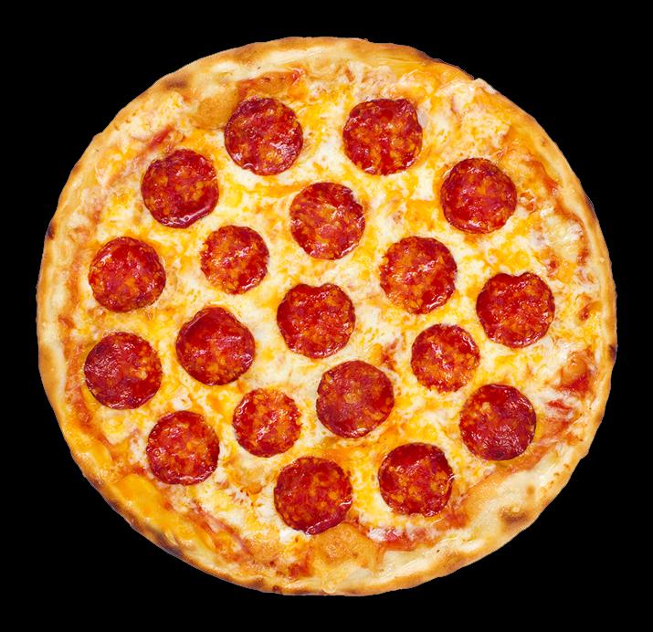 a pepperoni pizza