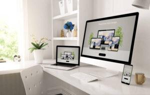 computers showing web design platforms