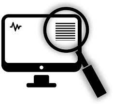 an icon of a magnifying glass going over a great website