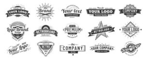 a collection of stock logos