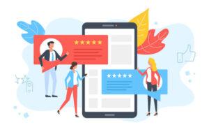 an inforgraphic displaying customer feedback in digital marketing.