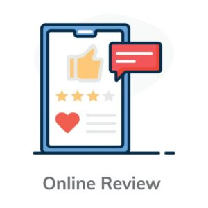 an icon displaying online reviews