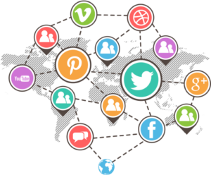 a map showing the effect of social media on the world