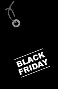 "a creative digital marketing representation of a tag that says ""black friday"" on it"