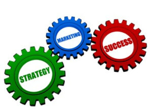 wheels, representing marketing and strategy