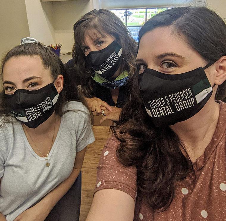 Wearing face masks