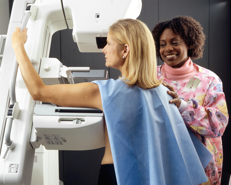 woman undergoing radiology testing