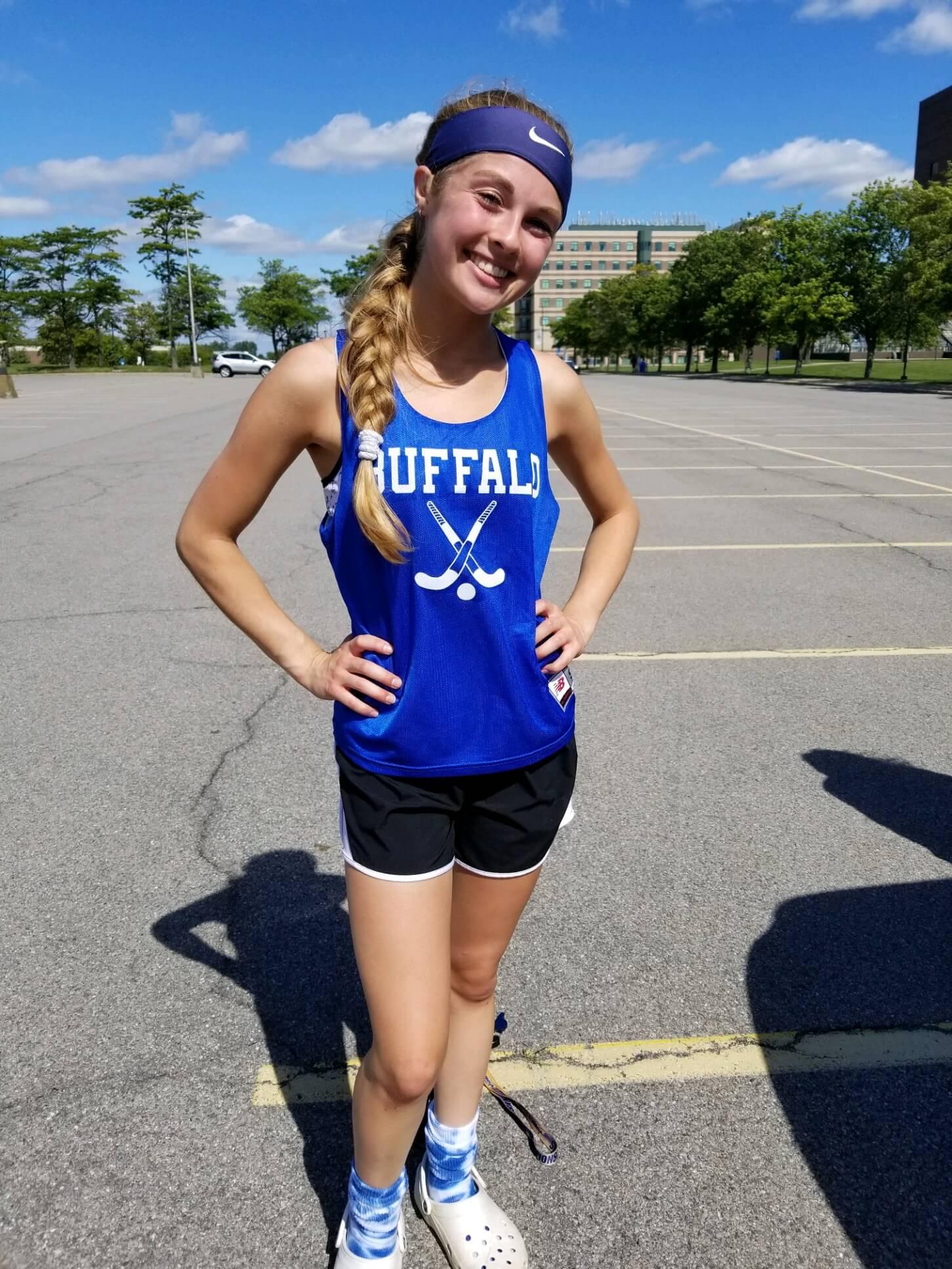 Mya Braun wearing field hockey uniform