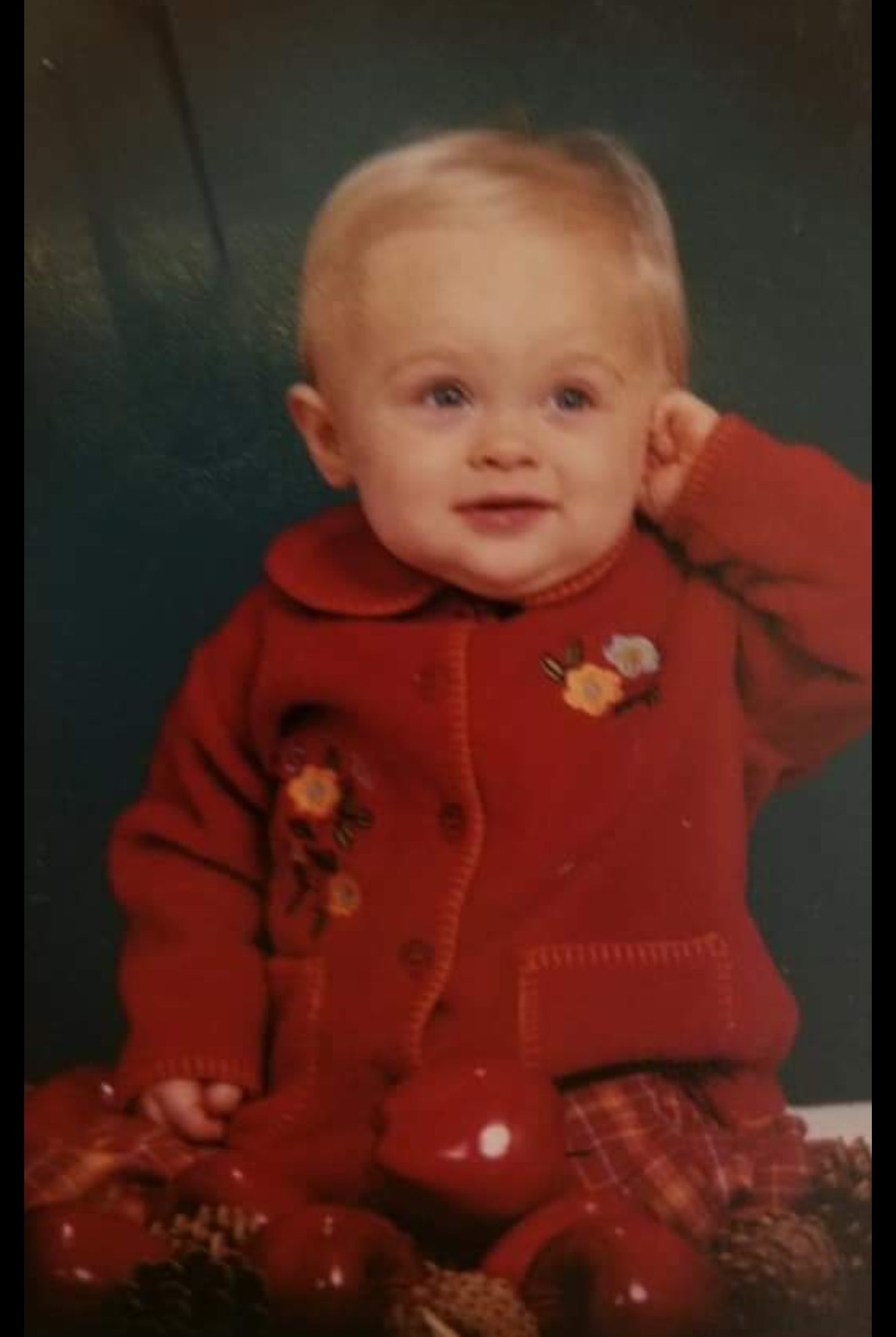 Mya Braun as a baby