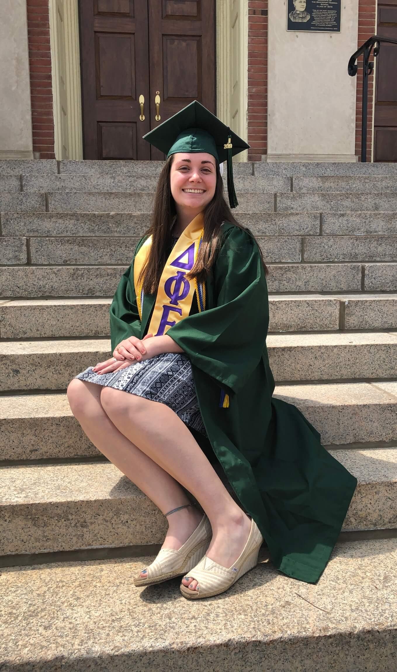 Beaming Mikhaila on graduation day