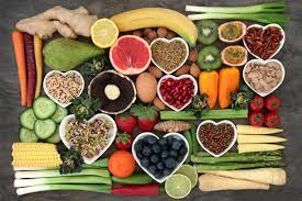 a selection of healthy food