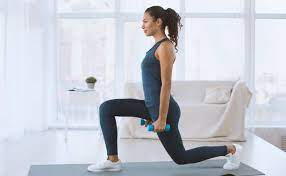 a healthy adult woman exercising
