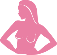 a woman performing a self breast exam