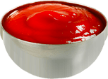 Bowl of ketchup