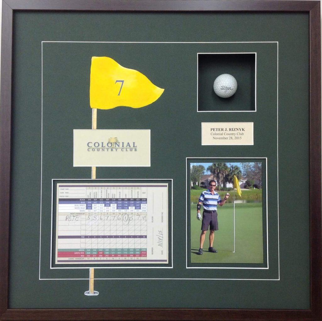 Sports memorabilia framed