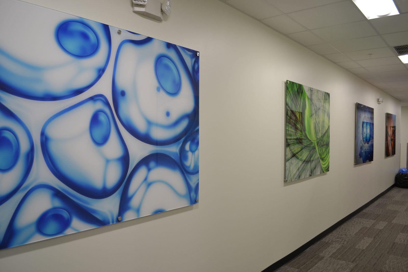 artwork in a hallway