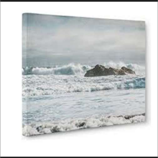 A picture on canvas of a snowy landscape